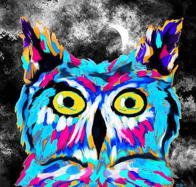 Owl Under The Moon Poster