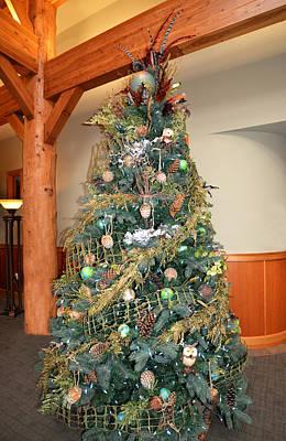 Owl Xmas Tree Poster