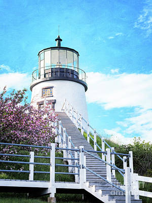 Owl's Head Light In Early June Poster