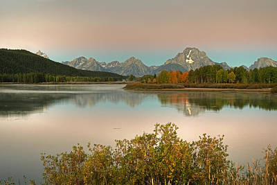 Poster featuring the photograph Oxbow Bend by Gary Lengyel