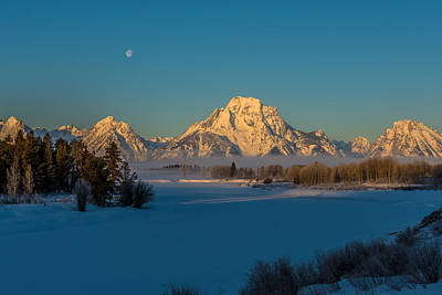 Oxbow Bend In Late Winter Poster by Yeates Photography