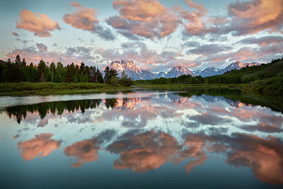Oxbow Sunrise Poster by Jon Glaser