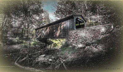 Oxford Covered Bridge Poster by Marvin Spates