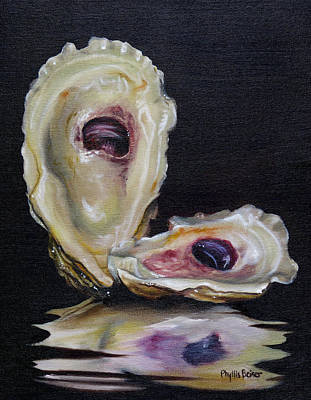 Oyster Shell Reflections Poster by Phyllis Beiser