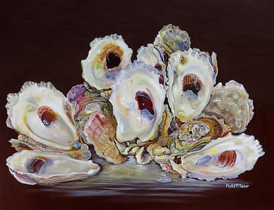 Oyster Shell Study At Low Tide Poster by Phyllis Beiser