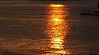 Ozark Lake Sunset Poster by Don Koester