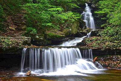 Ozone Falls Of Ricketts Glen Poster by Frozen in Time Fine Art Photography