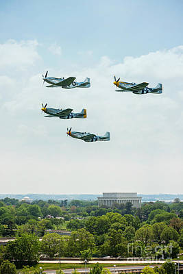 P-51 Mustang Over Dc Poster by Bobbi Jo Beaver