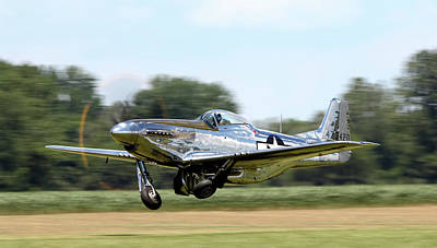 P-51 Takeoff Poster by Peter Chilelli