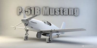 P-51b Mustang Poster by Dale Jackson