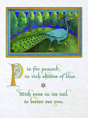 P Is For Peacock Poster