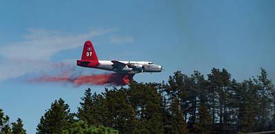P2v Red Canyon Fire Poster by Bill Gabbert