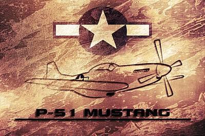 P51 Mustang Ww2 Poster