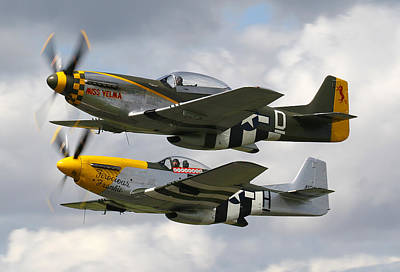 P51 Mustangs Poster by Ken Brannen