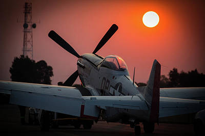 P51 Sunset Poster