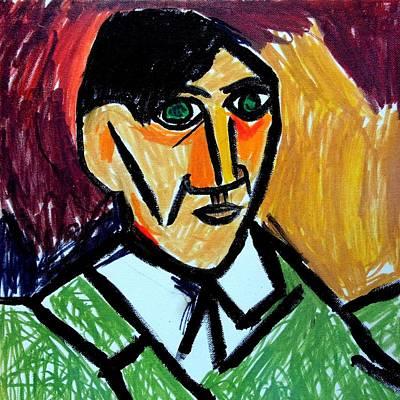Pablo Picasso 1907 Self-portrait Remake Poster