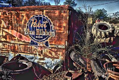Pabst Blue Ribbon Delievery Truck Poster by Corky Willis Atlanta Photography