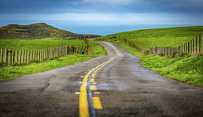 Pacific Coast Road To Tomales Bay Poster