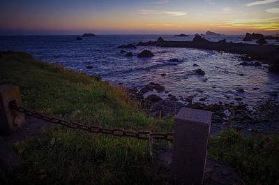 Pacific Ocean Cove Northern California Sunset Poster by Scott McGuire