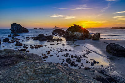 Pacific Ocean Northern California Sunset Poster by Scott McGuire