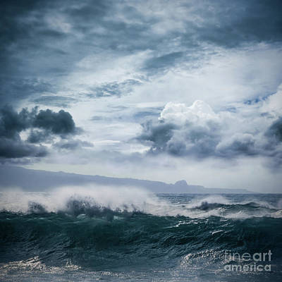 Poster featuring the photograph He Inoa Wehi No Hookipa  Pacific Ocean Stormy Sea by Sharon Mau