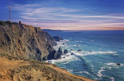 Pacific Ocean View Towards Point Bonita Lighthouse Poster by Jennifer Rondinelli Reilly - Fine Art Photography