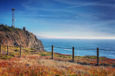 Pacific Ocean View Towards Point Bonita Lighthouse - Marin Headlands  Poster by Jennifer Rondinelli Reilly - Fine Art Photography