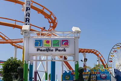 Pacific Park At Santa Monica Pier In Santa Monica California Dsc3676 Poster by Wingsdomain Art and Photography