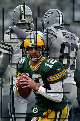 Packers Aaron Rodgers 2 Poster by Joe Hamilton