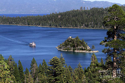 Paddle Boat Emerald Bay Lake Tahoe California Poster