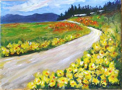 Poster featuring the painting Padilla Trail by Phyllis Howard