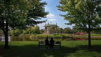 Poster featuring the photograph Pagoda Circle Interlude by Susan Rissi Tregoning