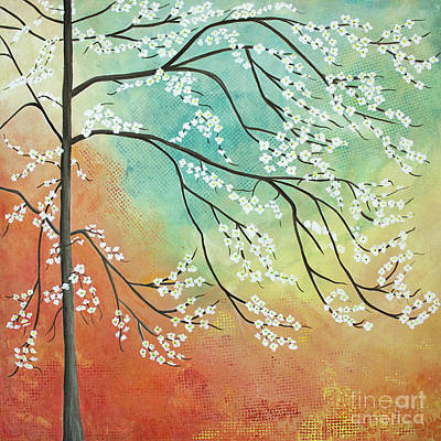 Flowering Dogwood Blossom Joy Poster by Barbara McMahon