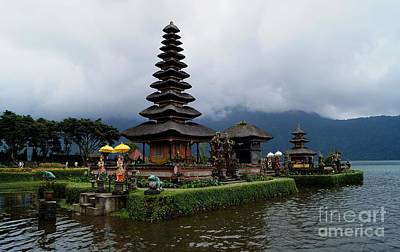 Pagoda In Bali Island. Water Temple Poster by Timea Mazug