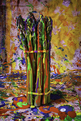 Painted Asparagus Poster by Garry Gay