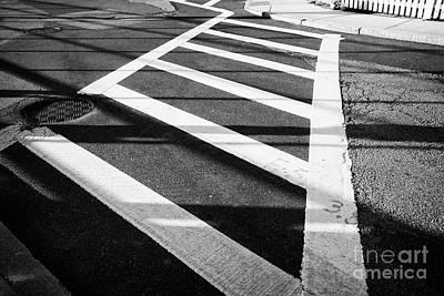 painted crosswalk on suburban street dorchester Boston USA Poster