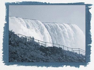 Painted Cyanotype Niagara Falls 9 Poster