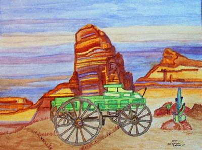 Poster featuring the painting Painted Desert by Connie Valasco