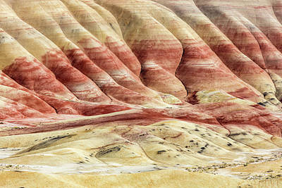 Poster featuring the photograph Painted Hills Landscape by Pierre Leclerc Photography