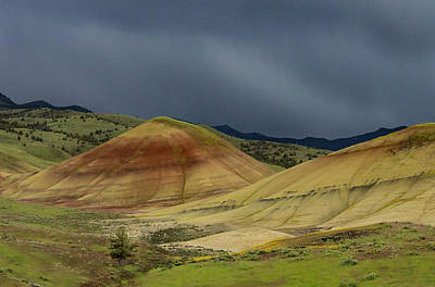 Painted Hills Storm Poster by Jean Noren