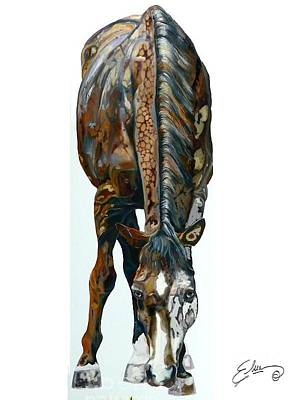 Painted Horse Poster by Sheila Elsea