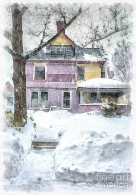 Painted Lady Snowstorm Poster
