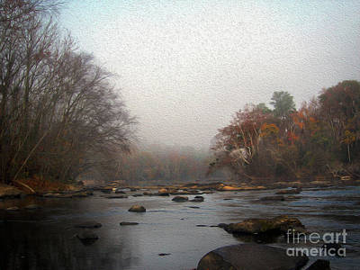 Painted Late Fall On The Saluda Poster