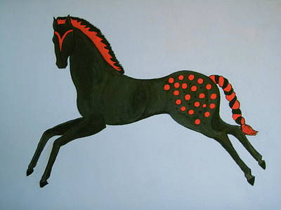 Poster featuring the painting Painted Pony by Stephanie Moore