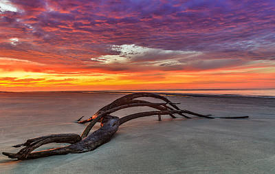 Painted Sky - Sullivan's Island Sc Poster by Donnie Whitaker