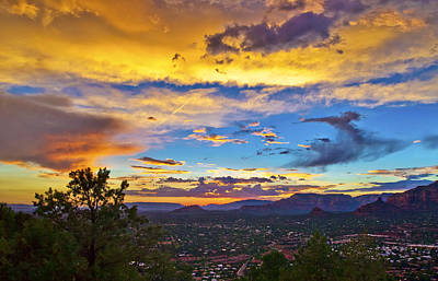 Painted Sky's Over Sedona Poster