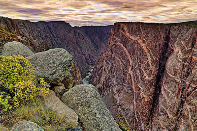 Painted Wall At Black Canyon Of The Gunnison - Colorado - Landscape Poster by Jason Politte