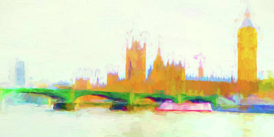 Painted Westminster Poster by Sharon Lisa Clarke