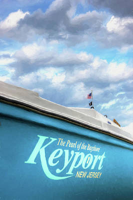 Poster featuring the photograph Painterly Keyport Sailboat by Gary Slawsky