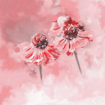 Painting 390 2 Twin Flowers Poster
